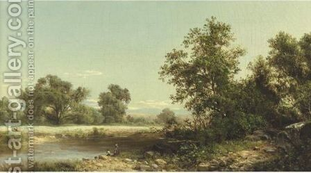 Scene At Hurley, New York by David Johnson - Reproduction Oil Painting