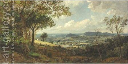 Mounts Adam And Eve 2 by Jasper Francis Cropsey - Reproduction Oil Painting