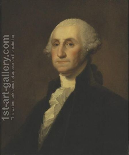 Portrait Of George Washington by Gilbert Stuart - Reproduction Oil Painting