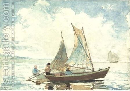 Boys In A Boat by Winslow Homer - Reproduction Oil Painting