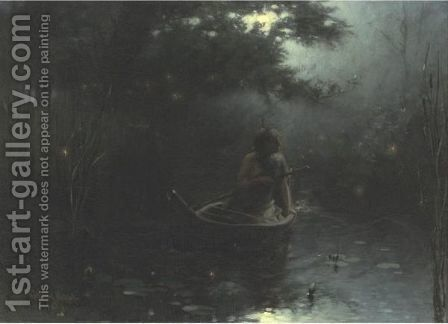 When Night Brings The Hour Of Starlight And Joy by Edward Percy Moran - Reproduction Oil Painting