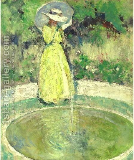 The Fountain by Charles Webster Hawthorne - Reproduction Oil Painting