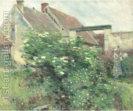 Garden At Giverny by Theodore Robinson - Reproduction Oil Painting