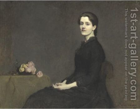 Portrait Of Anne Page by Dennis Miller Bunker - Reproduction Oil Painting