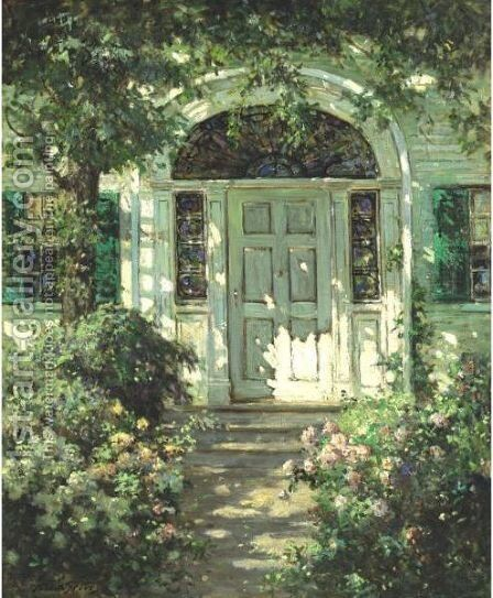 Portsmouth Doorway by Abbott Fuller Graves - Reproduction Oil Painting