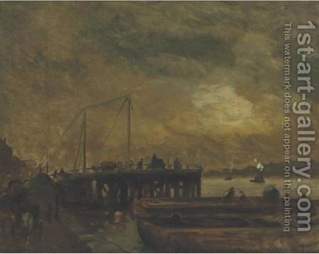 Coal Pier On The North River by Robert Henri - Reproduction Oil Painting