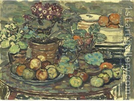 Still Life 2 by Maurice Brazil Prendergast - Reproduction Oil Painting