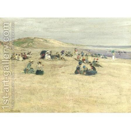 Beach And Dune by Charles Herbert Woodbury - Reproduction Oil Painting