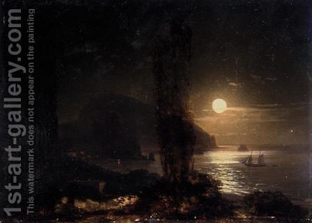 Moon Over The Ayu-Dag by Ivan Konstantinovich Aivazovsky - Reproduction Oil Painting
