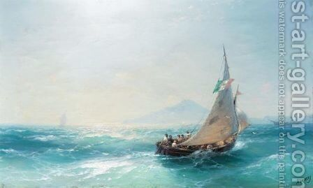 The Bay Of Naples 4 by Ivan Konstantinovich Aivazovsky - Reproduction Oil Painting