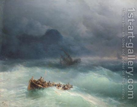 The Survivors 2 by Ivan Konstantinovich Aivazovsky - Reproduction Oil Painting