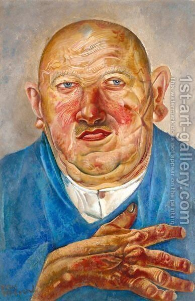 The German Butcher by Boris Dmitrievich Grigoriev - Reproduction Oil Painting