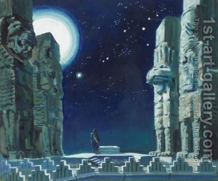Set Design For Act III Of Semiramis By Paul Valery by Alexander Evgenievich Yakovlev - Reproduction Oil Painting