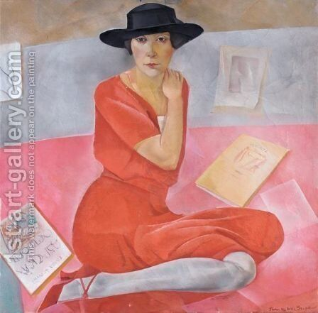 Portrait Of A Lady by Boris Dmitrievich Grigoriev - Reproduction Oil Painting