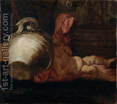 Putto Addormentato by Giulio Carpioni - Reproduction Oil Painting