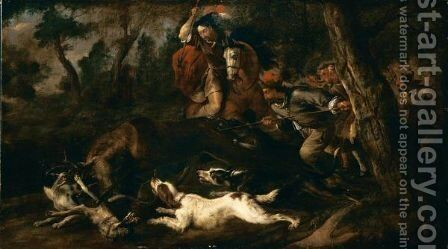 Caccia Al Cervo by (after) Frans Snyders - Reproduction Oil Painting