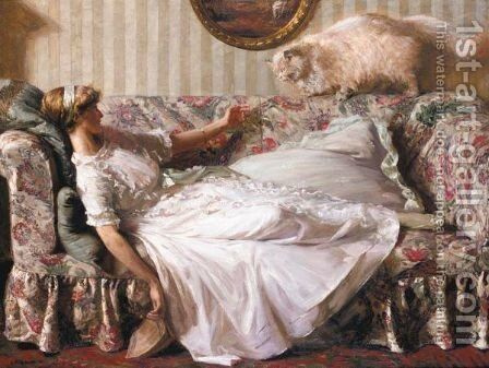 The Obsequious Persian by Charles Ward - Reproduction Oil Painting