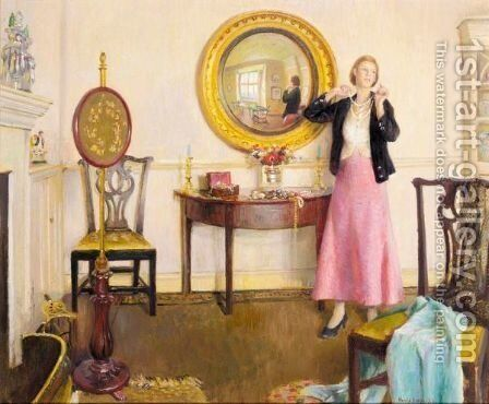 The Favourite Necklace by Harvey Harold - Reproduction Oil Painting