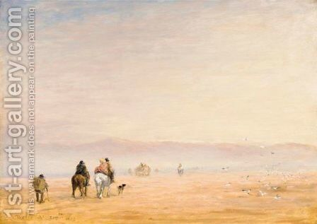 Crossing The Sands by David Cox - Reproduction Oil Painting