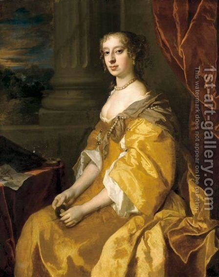 Portrait Of Anne Killigrew (C.1660-1685) by Sir Peter Lely - Reproduction Oil Painting