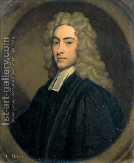 Portrait Of Sir John Dolben, Bt., Of Finedon (1683-1756) by Sir Godfrey Kneller - Reproduction Oil Painting