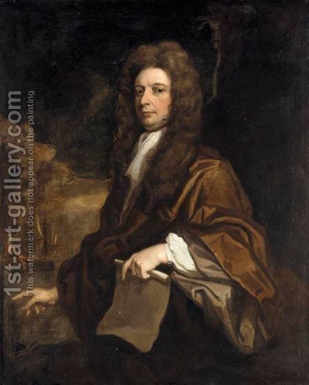 Portrait Of A Gentleman, Said To Be Samuel Pepys by Sir Godfrey Kneller - Reproduction Oil Painting