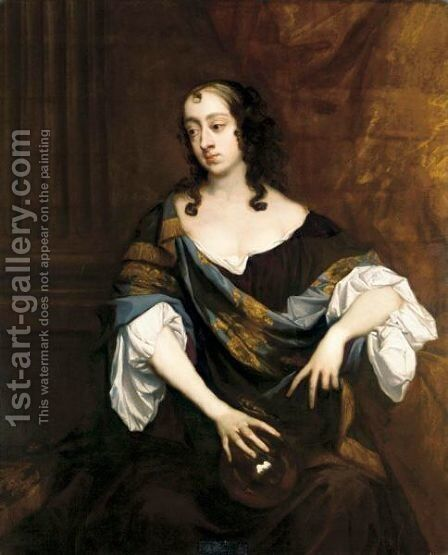 Portrait Of Elizabeth, Countess Of Essex by Sir Peter Lely - Reproduction Oil Painting