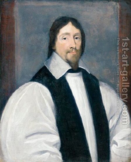 Portrait Of Archbishop William Laud (1573-1645) by (after) Edward Bower - Reproduction Oil Painting