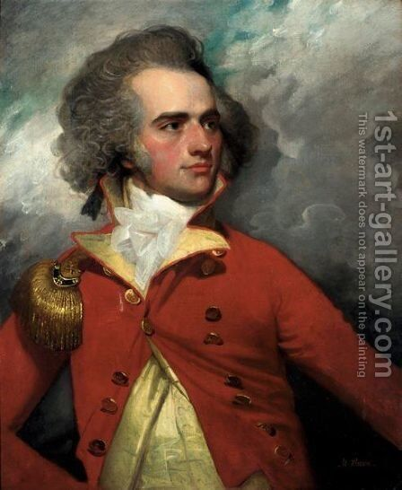 Portrait Of Charles Watkin John Shakerley (1767-1834) by Mather Brown - Reproduction Oil Painting