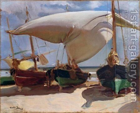 Playa De Valencia (Valencia Beach) by Joaquin Sorolla y Bastida - Reproduction Oil Painting