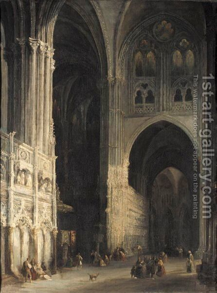 Cathedral Of Toledo by (after) Jenaro Perez Villaamil - Reproduction Oil Painting