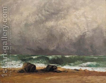 La Vague 4 by Gustave Courbet - Reproduction Oil Painting