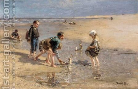 The Young Navigators by Bernardus Johannes Blommers - Reproduction Oil Painting