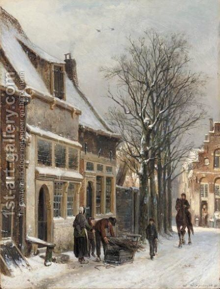 A View Of Haarlem by Cornelis Springer - Reproduction Oil Painting