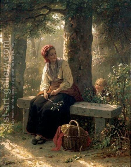 Hide And Seek by Meyer Georg von Bremen - Reproduction Oil Painting