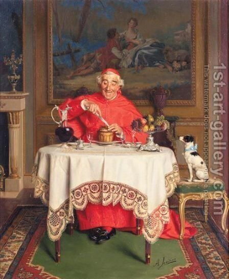 His Favourite Pet 2 by Andrea Landini - Reproduction Oil Painting