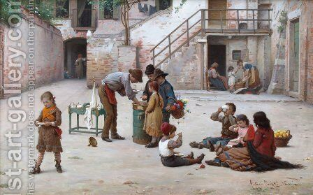 The Ice Cream Vendors by Antonio Paoletti - Reproduction Oil Painting