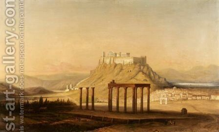 The Plain Of Athens by Continental School - Reproduction Oil Painting