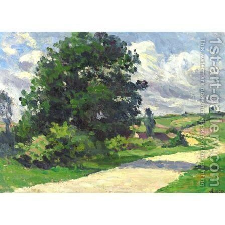 Moulineux, La Route by Maximilien Luce - Reproduction Oil Painting