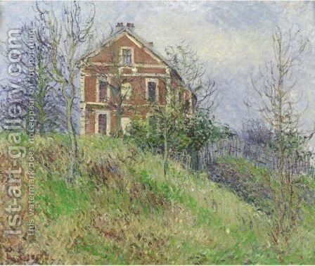 La Maison Rouge A Port Marly by Gustave Loiseau - Reproduction Oil Painting