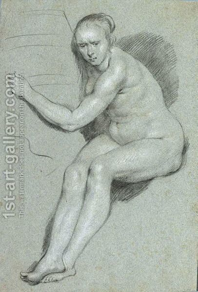 A Female Nude by Haarlem School - Reproduction Oil Painting