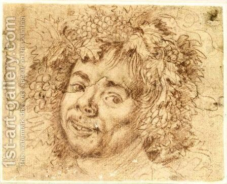 Head Of Bacchus by Dutch Unknown Masters - Reproduction Oil Painting