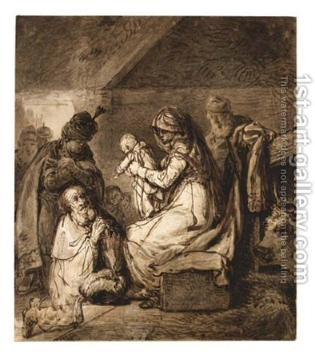 Adoration Of The Magi by (after) Harmenszoon Van Rijn Rembrandt - Reproduction Oil Painting