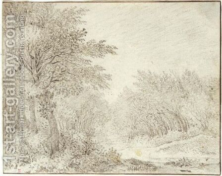 Wooded Landscape With A Path by Guillam Dubois - Reproduction Oil Painting