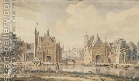 A View Of Delft From The South by Dutch School - Reproduction Oil Painting