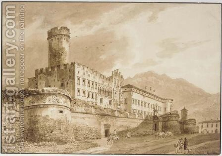 Palazzo Del Buonconsiglio, Trento by Heinrich Adam - Reproduction Oil Painting