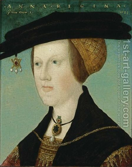 A Portrait Of Anne Of Hungary (1503-1547), At The Age Of 20 by (after) Hans Maler - Reproduction Oil Painting