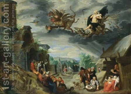 An Allegory Of Melancholy With Saturn And The Constellations by Jan, the Younger Brueghel - Reproduction Oil Painting