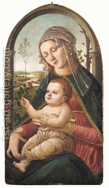 The Madonna And Child by (after) Sandro Botticelli (Alessandro Filipepi) - Reproduction Oil Painting