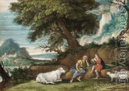 Mercury And Argos by (after) David The Elder Teniers - Reproduction Oil Painting